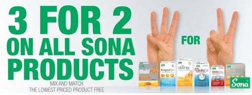 3 for 2 on the Full Sona range